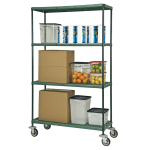 Focus FMPS2436694 Epoxy Coated Wire Shelving Unit w/ (4) Levels, 24x36x63""