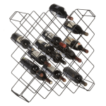 "Focus FWBR45BK 26.5""H Display Commercial Wine Rack Modules w/ (45) Bottle Capacity, Black Epoxy"