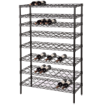 "Focus FWSK4863BK 63""H Commercial Wine Rack w/ (120) Bottle Capacity, Black Epoxy"
