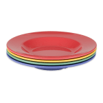 "GET B-1611-MIX (4) 11.25"" Round Pasta Bowl w/ 16 oz Capacity, Melamine, Multi-Colored"