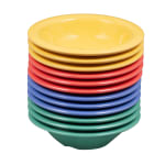"GET B-454-MIX (4) 4.75"" Round Cereal Bowl w/ 4.5-oz Capacity, Melamine, Multi-Colored"