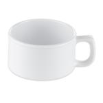 "GET BF-080-W 4"" Round Soup Mug w/ 11-oz Capacity, Melamine, White"