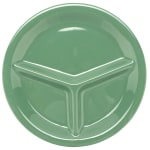 "GET CP-10-FG 10.25"" Round Dinner Plate w/ (3) Compartments, Melamine, Green"