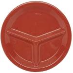 "GET CP-10-RO 10-1/4""3-Compartment Plastic Plate, Rio Orange"