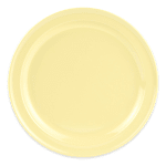 "GET DP-509-Y 9"" Round Dinner Plate, Melamine, Yellow"