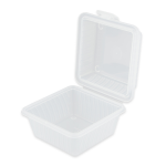 "GET EC-08-1-CL 4.75"" Square To Go Food Container, Polypropylene, Clear"