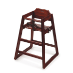 GET HC-100-M-KD Unassembled High Chair, Commercial Hardwood, Mahogany