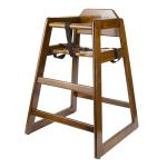 GET HC-100-W-1 Assembled High Chair, Commercial Hardwood, Walnut