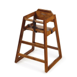 GET HC-100-W-KD Unassembled High Chair, Commercial Hardwood, Walnut