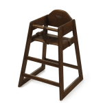 "GET HC-101C-KD 29.8""H Stackable High Chair, Chestnut"