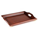 "GET LUX1816-M Rectangular Wood Room Service Tray, 18 x 14"" , Mahogany"