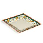"""GET ML-104-BF 10"""" Square Dinner Plate, Melamine, White"""