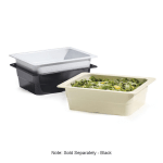 GET ML-21-BK 1/2 Size Food Pan, Melamine, Black