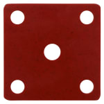 GET ML-222-RSP False Bottom for ML-148 w/ Holes, Melamine, Red