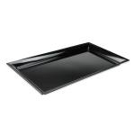 """GET ML-242-BK Rectangular Platter, 28"""" x 16"""", Melamine, Black"""