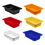 GET ML-29-BUI (6) 1/4-Size Food Pan, Melamine, Multi-Colored