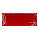 "GET ML-87-RSP Rectangular Display Tray, 17.5"" x 6.75"", Melamine, Red"