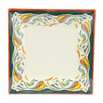 "GET ML-90-BF 12"" Square Dinner Plate, Melamine, White"