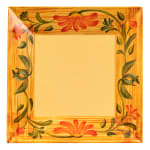 "GET ML-91-VN 14"" Square Dinner Plate, Melamine, Yellow"