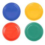 "GET NP-6-MIX (4) 6.5"" Round Dessert Plate, Melamine, Multi-Colored"