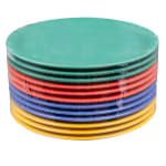 "GET NP-9-MIX (4) 9"" Round Dinner Plate, Melamine, Multi-Colored"