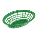"GET OB-734-G Oval Bread & Bun Basket, 8"" x 5.5"", Polypropylene, Green"