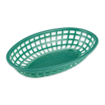 "GET OB-938-G Oval Bread & Bun Basket, 9.5"" x 6"", Polypropylene, Green"
