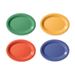 "GET OP-120-MIX (4) Oval Serving Platter, 12"" x 9"", Melamine, Multi-Colored"