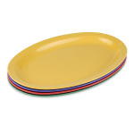 "GET OP-612-MIX (4) Oval Serving Platter, 11.75"" x 8.25"", Melamine, Multi-Colored"