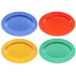 "GET OP-621-MIX (4) Oval Serving Platter, 21"" x 15"", Melamine, Multi-Colored"