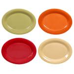"""GET SP-OP-950-COMBO Oval Serving Platter, 12.25"""" x 8"""", Melamine, Red"""