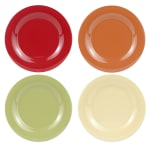 "GET SP-WP-9-COMBO (4) 9"" Round Dinner Plate, Melamine, Multi-Colored"