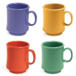 GET TM-1308-MIX (4) 8 oz Coffee Mug, Plastic, Multi-Colored