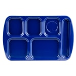 "GET TR-151-NB School Cafeteria Tray w/ (6) Compartments, 15.5"" x 10"", Melamine, Blue"