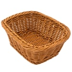 "GET WB-1506-HY Rectangular Bread Basket, 9.5"" x 7.75"", Polypropylene, Honey"
