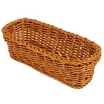 "GET WB-1507-HY Rectangular Bread Basket, 10"" x 4.75"", Polypropylene, Honey"
