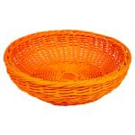 "GET WB-1512-OR 11.5"" Round Bread Basket, Polypropylene, Orange"