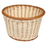 "GET WB-1521-TT 12"" Round Bread Basket, Polypropylene, Two-Tone"