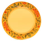 "GET WP-12-VN 12"" Round Dinner Plate, Melamine, Yellow"