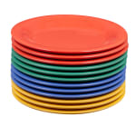"GET WP-6-MIX 6.5"" Round Dessert Plate, Melamine, Multi-Colored"