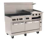 "Wolf C60SS-6B24GB 60"" 6-Burner Gas Range with Griddle & Broiler, LP"
