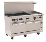 "Wolf C60SS-6B24G 60"" 6 Burner Gas Range with Griddle, NG"