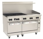 "Wolf C60SS-6B24GT 60"" 6 Burner Gas Range with Griddle, NG"