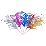 "Town 51805 6 1/4"" Curly Foil Frill Top Cocktail/Food Pick, Wooden Stem, Assorted Colors"