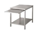 "Market Forge 92-1014 28"" x 24"" Stationary Equipment Stand for Countertop Steamers, Undershelf"