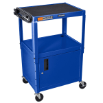 Luxor Furniture AVJ42C-RB 2-Level Media Cart w/ 15-ft Cord