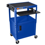Luxor Furniture AVJ42KBC-RB 2-Level Computer Cart w/ 15-ft Cord