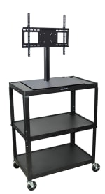 Luxor Furniture AVJ42XL-LCD 3-Level Media Cart w/ 15-ft Cord