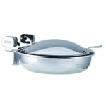 Spring USA 2372-6/36 4-qt Round Sauteuse Chafer - Induction Ready, Stainless w/ Chrome-Plated Accents
