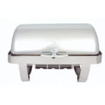 Spring USA K2509-6 9.87 qt Rectangular Roll-Top Chafer - Stainless Steel